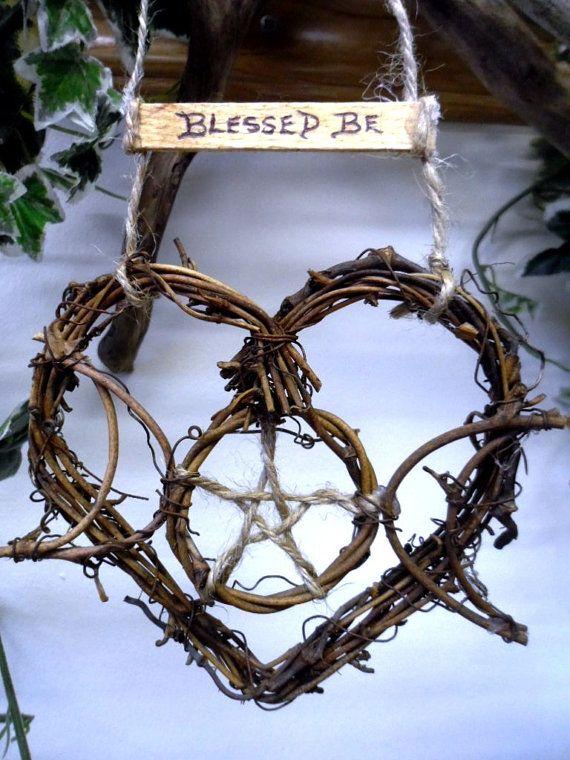 Pagan Witch Kitchen Triple Moon Goddess Rustic triple moon vine heart.by PositivelyPagan, £7.95