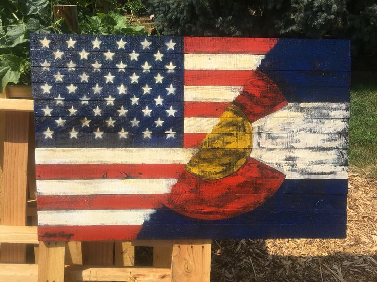 I came up with this design in 2015, while I was painting a custom order. I was painting an American flag with a Irish flag, & thought a Colorado flag would look cool. You can see my other work on my Facebook. Www.facebook.com/kylestonnerwoodworking