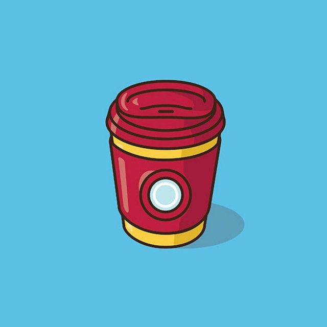 """In his collection """"There's a Capp for That!"""", American illustrator Jacob Parr imagined minimalist illustrations, transforming Super Heroes and Pop Culture characters into deft coffee mugs. We can find some Marvel characters like """"Captain America"""" and """"Iron Man"""", also heroes from animation movies """"Toy Story"""" and some references to Pokemon world."""