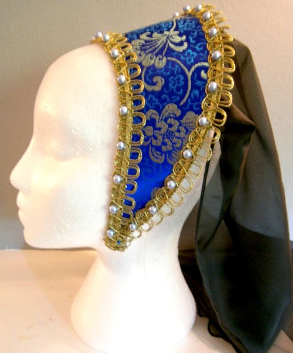 French Hood Tudor Renaissance LARP Medieval Wedding Anne