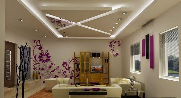 LED false ceiling lights for living room, LED strip lighting ideas ...
