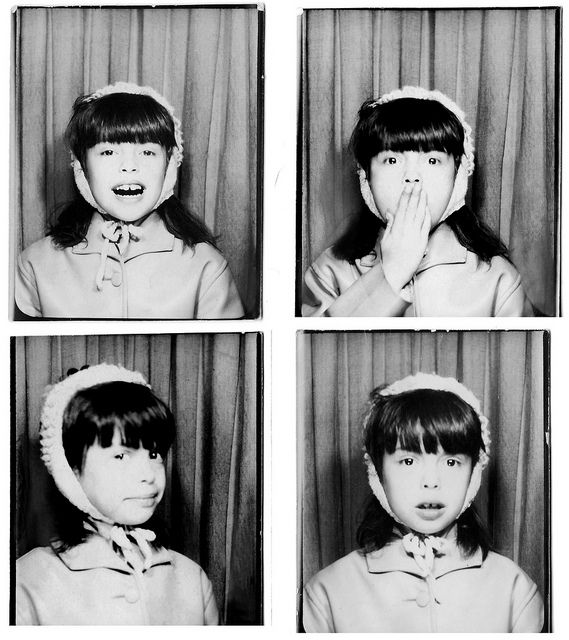 Vintage Photobooth- young girl