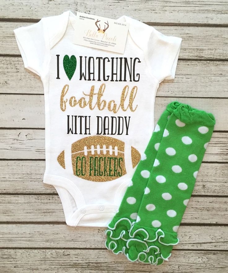 Green Bay Packers Baby Girl Bodysuit Girls Football Shirts Baby Girls Football Bodysuits - BellaPiccoli