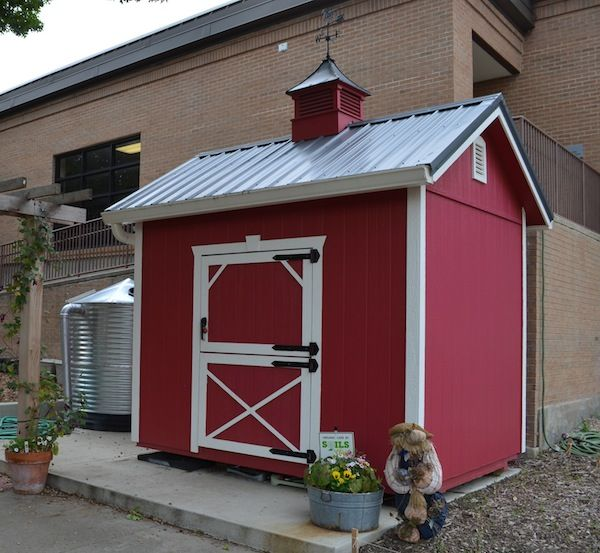 Tool Shed And 1000 Gallon Rain Barrel At Elementary School