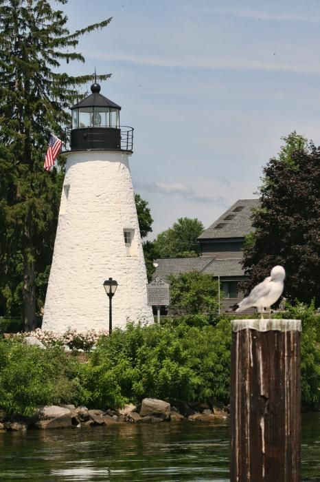 The Concord Point Lighthouse in Havre de Grace, Maryland, overlooking the point where the Susquehanna River flows into the Chesapeake Bay.