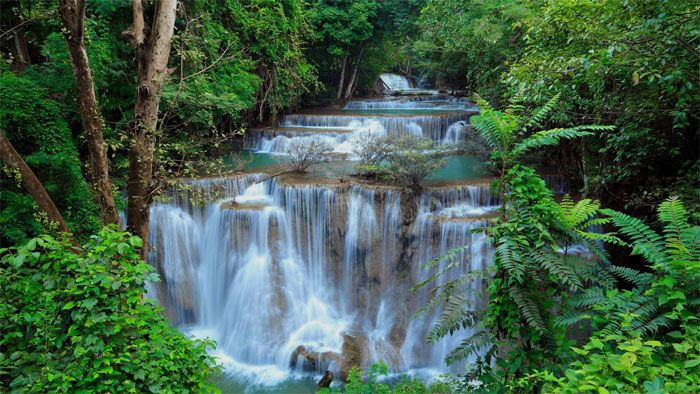 Cascada del Parque Nacional de Erawan