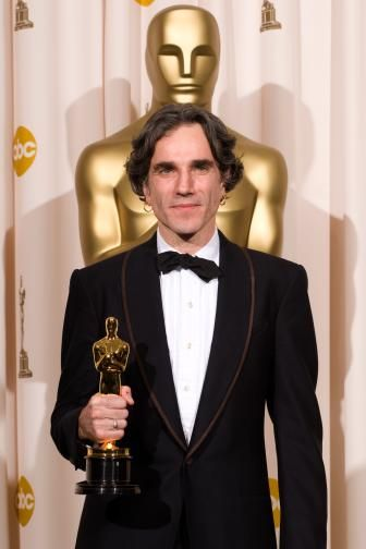 "80th Academy Awards - 2008 Oscar Best Actor Winner Daniel Day Lewis""There will be Blood"" .This is his fourth nomination in this category. He won an Oscar for his performance in My Left Foot (1989) and was nominated for In the Name of the Father (1993) and Gangs of New York (2002)."
