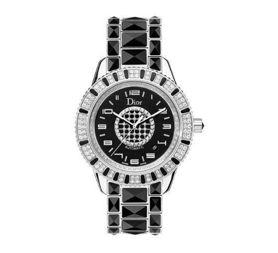 Christian Dior Women's CD115511M001 Christal Black Diamond Dial Watch #watch #christiandior #wrist_watches #watches #women #departments #shops