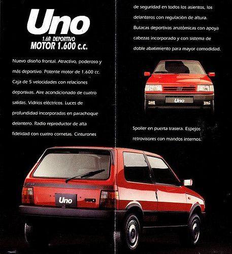 Fiat Uno 1 6r 1991 Voiture