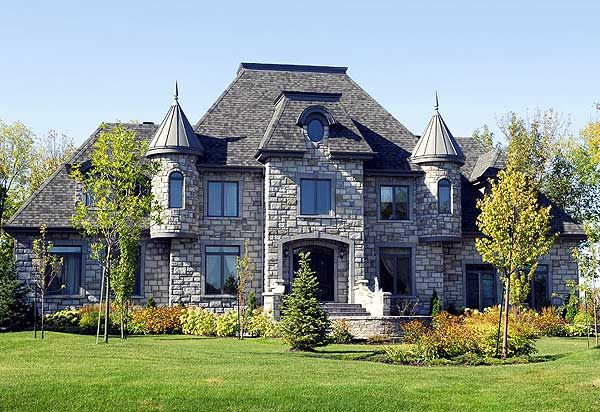 castle-style house. I would never need a house that big, but this is the style of house I want!