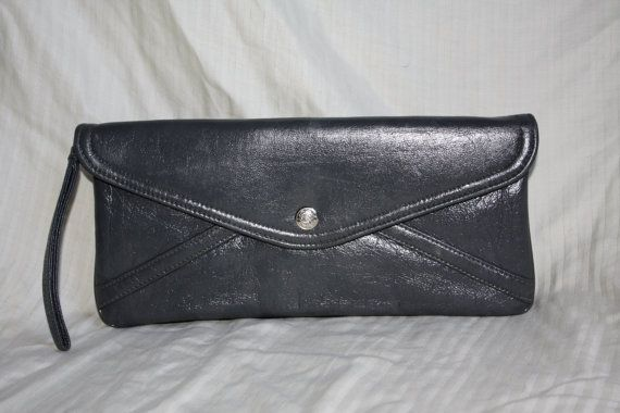 Metallic Pewter Clutch 60s by in2purses2010 on Etsy, $14.50