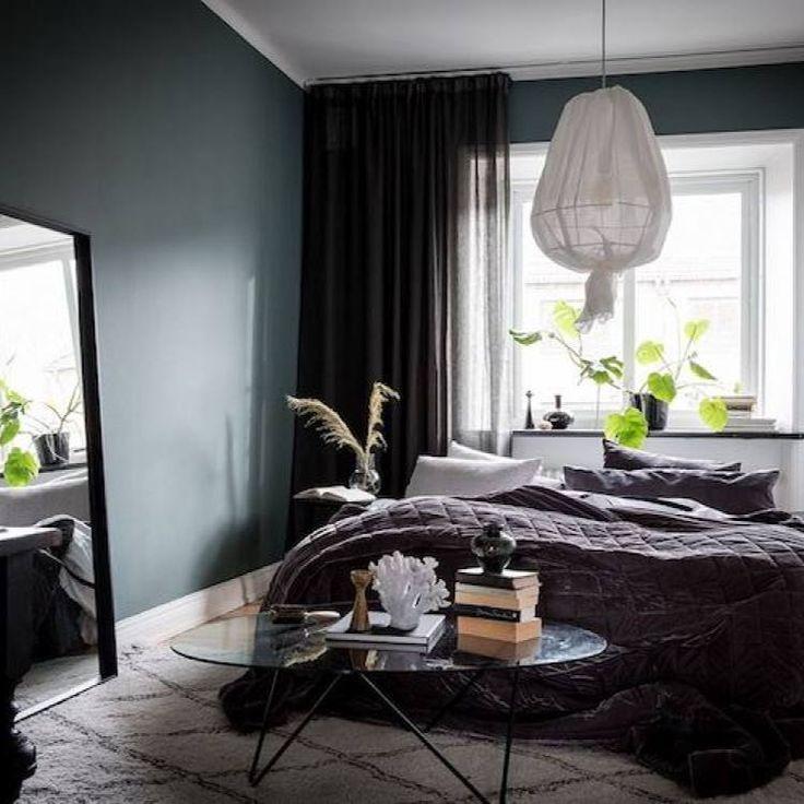 Room Redo Moody Nordic Bedroom Master Bedrooms Decor Bedroom Interior Blue Master Bedroom