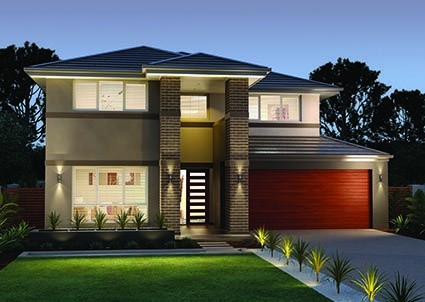 Sheridan 35 || Double storey home design featuring five bedrooms plus a study/guest room and and upstairs leisure room