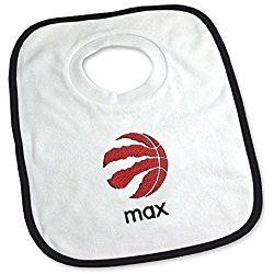Designs by Chad and Jake Baby Personalized Name Toronto Raptors Bib One Size White
