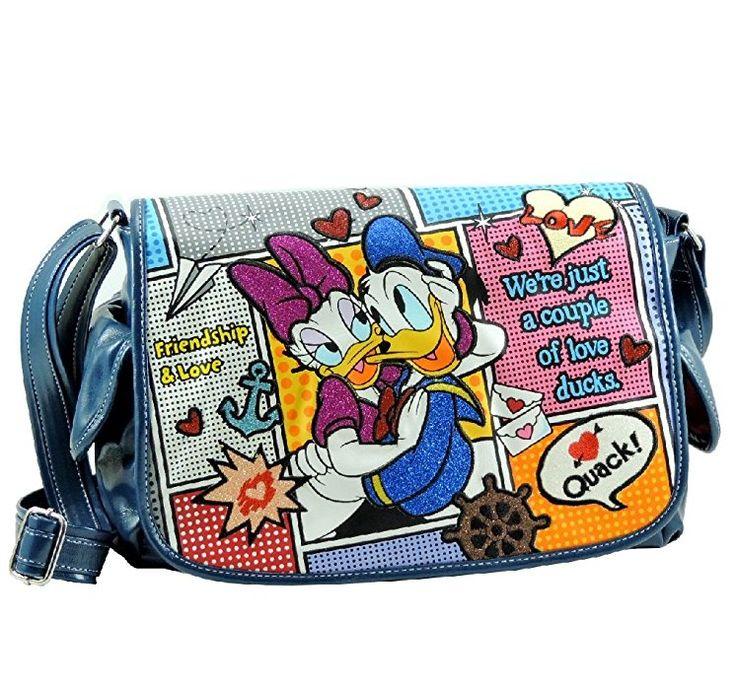 BORSA DONNA Disney DAISY DONALD DUCK - borsa con tracolla VERSIONE FUMETTATA Paperina Paperino