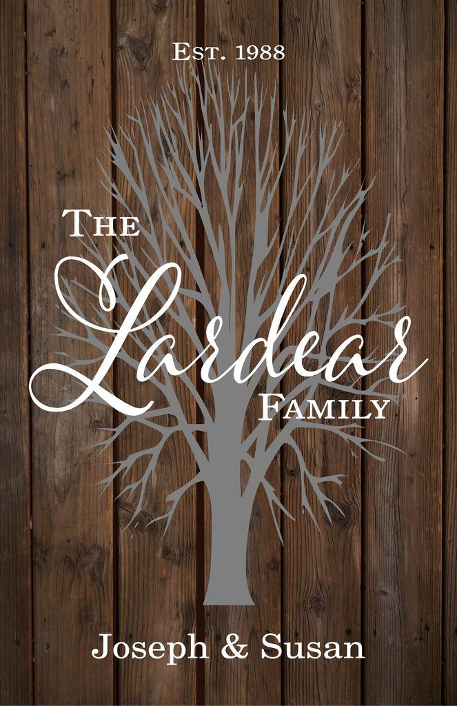 Custom Family Name Sign with Tree Wedding, Shower, Birthday, Christmas Gift - With Family Members Names, Established Date and Year, Family Name