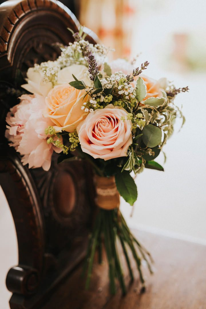 Roses and lavender - beautiful. Photo by Benjamin Stuart Photography #weddingphotography #weddingflowers #bridalbouquet #bouquet #rusticflowers #roses #lavender