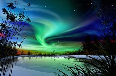 The magical northern sky. Free wallpaper from http://nature.desktopnexus.com/wallpaper/779253/