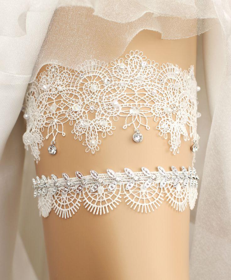 Wedding garter, bridal garter, toss garter, lace garter, rhinestone garter, crystal garter, lace wedding garter set, wedding garter set by GadaByGrace on Etsy https://www.etsy.com/listing/223478711/wedding-garter-bridal-garter-toss-garter