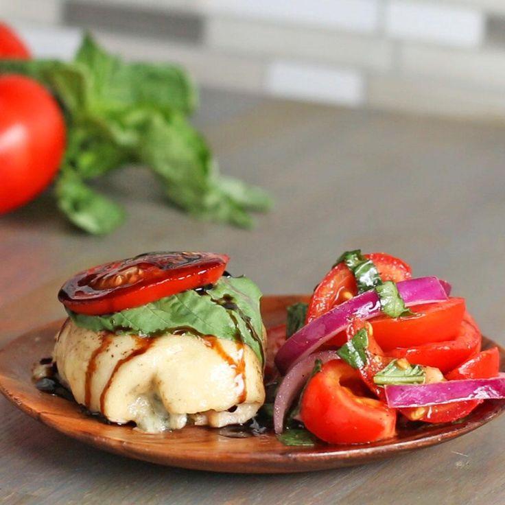 Caprese Chicken Roll-ups Recipe by Tasty