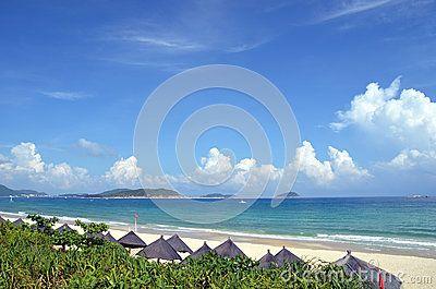Beach on Hainan Island, China, Sanya, Yalong Bay, may 2011