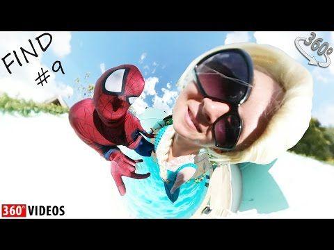 💥😂360 VIDEO FIND Spiderman and Elsa Frozen Finding w Superheroes Prank Funny video in 360 w Joker | 360 Videos