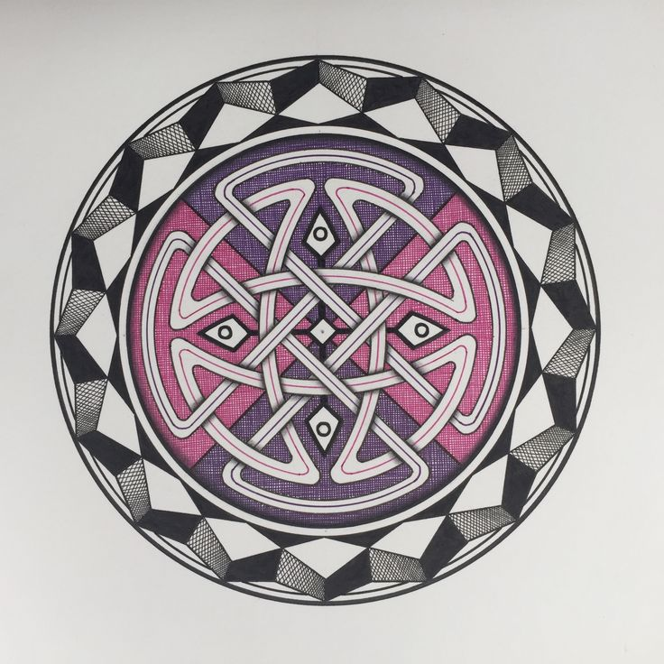 Celtic inspired Mandala by Keith Climpson