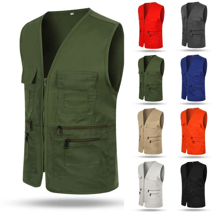 New Men Multi Pocket Travelers Fishing Photography Director Casual Outdoor Vest #Unbranded #PhotographerVest