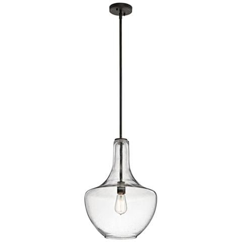 "Kichler Everly 13 3/4""W Olde Bronze Pendant Light"