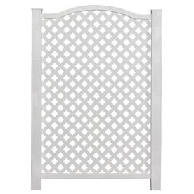 $20--for around air conditioner Barrette 45-in x 31-in White Vinyl Polyresin Outdoor Privacy Screen