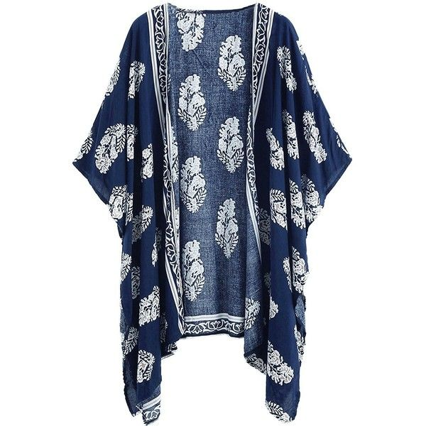 Honeystore Women's Floral Kimono Cardigan Beach Kaftan Swim Bathing... ($20) ❤ liked on Polyvore featuring swimwear, cover-ups, kimono cover up, swimsuit cover up, floral kimono, swim suit cover ups and swim cover up kimono