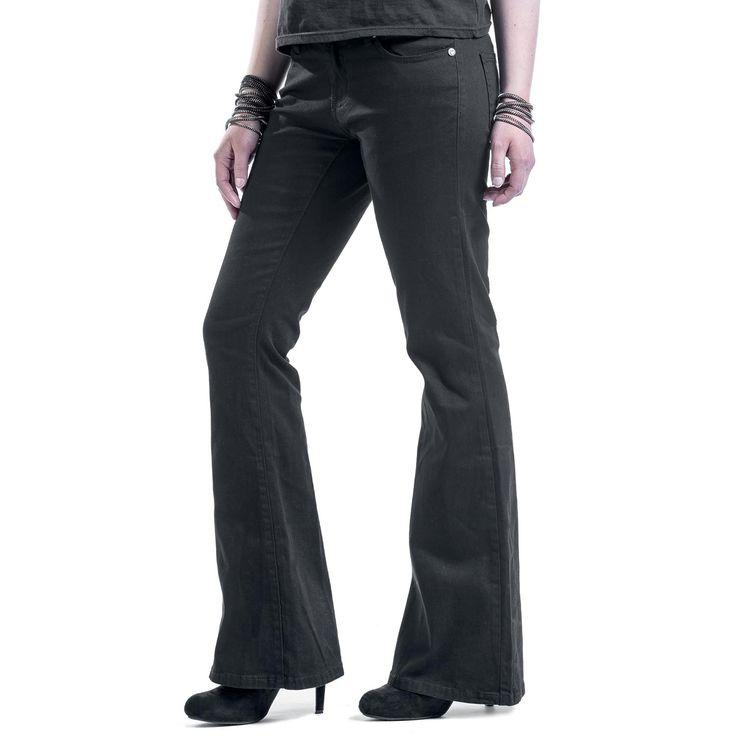 """Black Premium by EMP Pantalon en toile, Femme """"Corded Extra Boot"""" noir • EMP"""