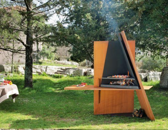 cheminée extérieur barbecue design Mikadofocus