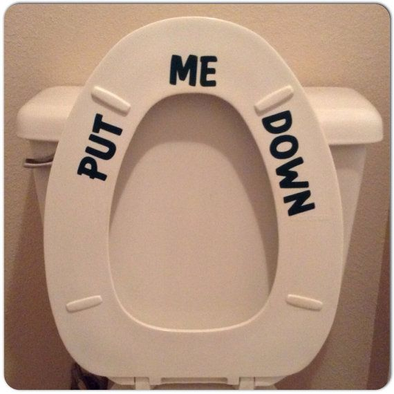 Put+me+Down+Funny+Toilet+Seat+Decal++Humorous+por+DecalsEnFolie,+$7.00