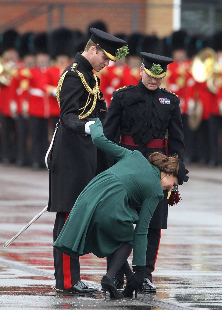 Pin for Later: Prince William and the Duchess of Cambridge's 63 Best Married Moments  Prince William was quite the gentleman helping Kate with her shoe in March 2013 in England.