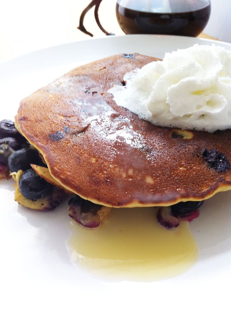 Absinthe Pancakes. Made with absinthe egg nog, blueberries, honey ...