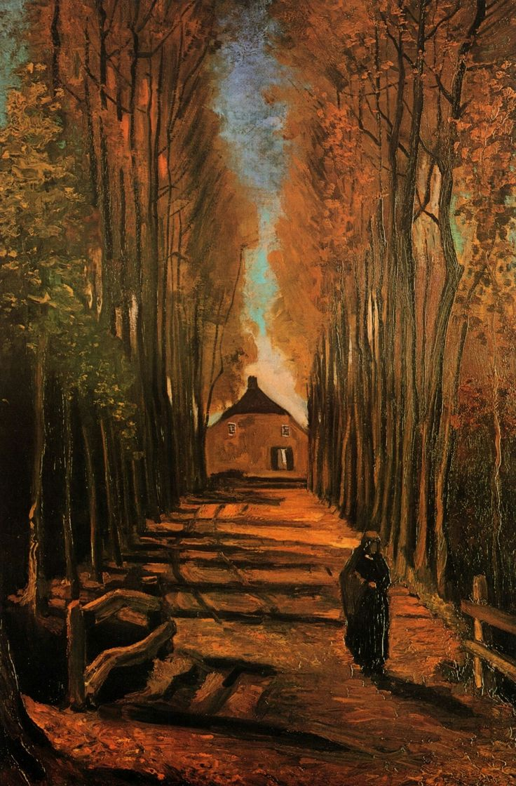 Тополиная аллея осенью 1884 октябрь 99х66см холст/масло Амстердам: Музей Ван Гога