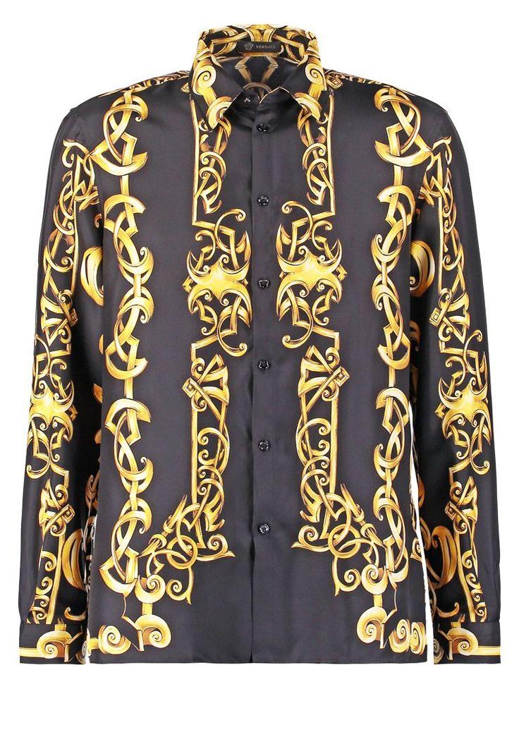Versace Koszula nero oro 3,239.00zł Materiał: 100% jedwab  #moda #fashion #men #mężczyzna #versace #koszula #nero #oro #złoty #gold #czarny #black #długi #rękaw #męska #jedwab