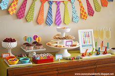 mesa dia dos pais, decoração dia dos pais, gravata, brunch, festa meninos, festa em casa, ideias decoração