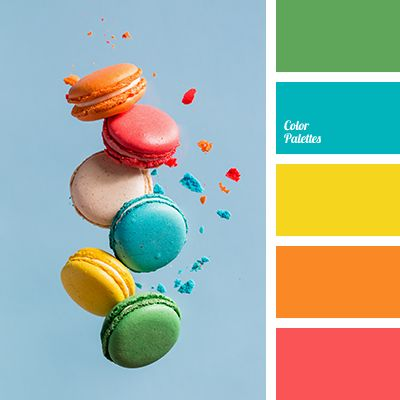 bright blue, bright colors, bright green, bright orange, bright red, bright yellow, canary yellow color, color macaroons, color selection for decoration, contrasting tones, saturated colors, saturated green color, scarlet, scarlet red.
