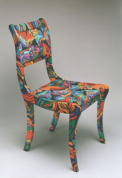 Flower power chair funky furniture d pinterest - Hand painted furniture ideas ...