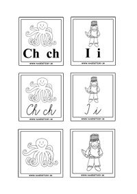 Vyrobte si kartičky s písmenkami a obrázkami, ktoré pomôžu škôlkárom a prváčikom…