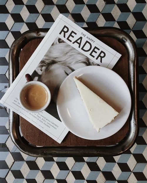 Coffee and a magazine to start the day
