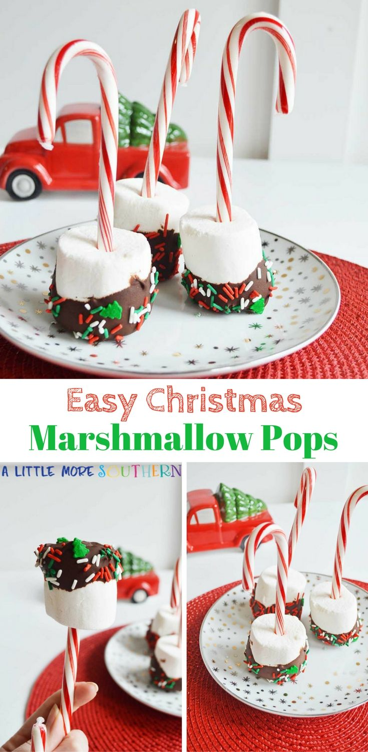 Easy Christmas Marshmallow Pops Recipe
