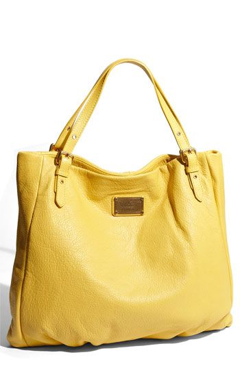 i LOVE this yellow marc by mj bag. the color is so happy and it could be a perfect addition to my closet :)
