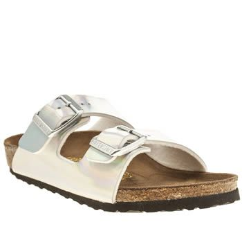 Birkenstock Silver Arizona Girls Junior These holographic footbed sandals are so amazing, we want them for ourselves. Sadly, theyre only for the kids. Birkenstock have given their Arizona a silver reflective makeover, and we love it. The do http://www.MightGet.com/january-2017-13/birkenstock-silver-arizona-girls-junior.asp