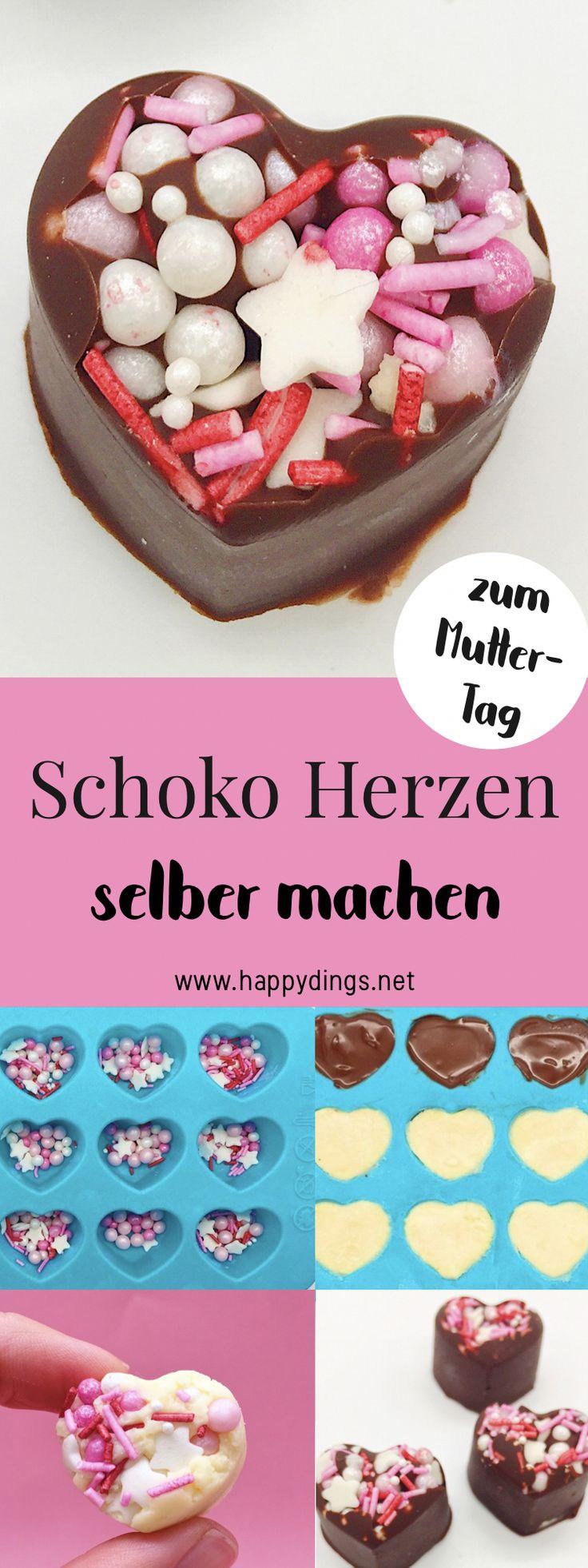 Schokoladenherzen selber machen – einfache Geschenkideen   – Happy Dings • DIY Tipps