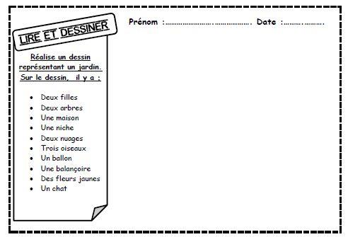 Lire et dessiner, comprendre mots, cycle 2, cp, ce1, autonomie