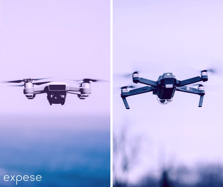 Which one is easy to use? #DJI Spark OR DJI Mavic?  Stop wondering and start #experiencing it @ expese.com  #drones #expeseit