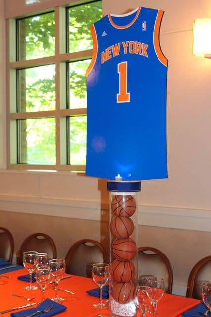 Sports Themed Centerpieces - Basketball Jersey Centerpiece